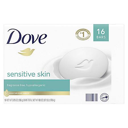 Dove Beauty Bar, Sensitive Skin (3.75 oz., 16 ct.)