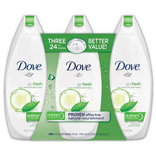 Dove Go Fresh Body Wash, Cool Moisture (24 fl. oz., 3 pk.)