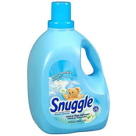 Snuggle® Blue Sparkle Fabric Softener - 200oz jug