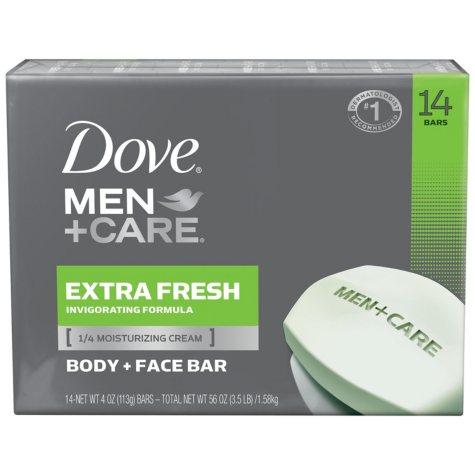 Dove Men+Care Soap Bars, Extra Fresh (4 oz., 14 ct.)