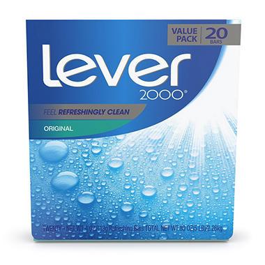 Lever 2000 Bar Soap Original 4 Oz 20 Ct