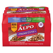 Purina Alpo Prime Cuts in Gravy Wet Dog Food, Variety Pack (13.2 oz., 24 ct.)