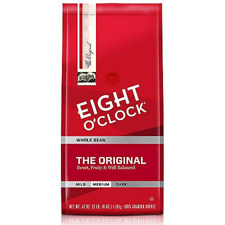 Eight O'Clock Original Whole Bean Coffee - 42 oz.