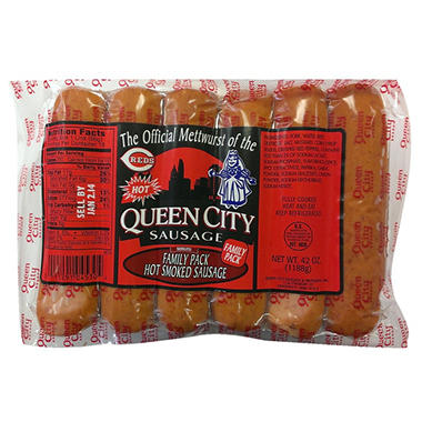 Queen City Sausage Hot Smoked Sausage - 42 oz.