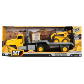 Caterpillar Massive Machines Crane Truck with Skid Steer - Lights and Sounds