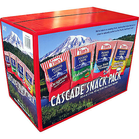 Tim's Cascade Snack Pack (1.5 oz., 30 ct.)