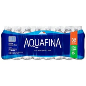 Aquafina Purified Drinking Water (16.9 oz., 32 ct.)
