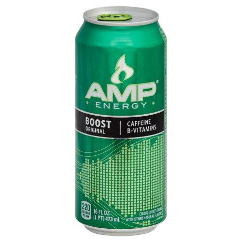AMP Energy Original Citrus Flavored Energy Drink (16 fl. oz. cans, 12 pk.)