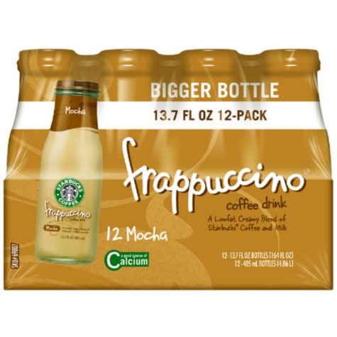 Starbucks Frappuccino Coffee Drink, Mocha (13.7 oz. bottles, 12 ct.)
