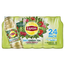 Lipton Diet Green Tea with Mixed Berry (16.9 oz. bottles, 24 pk.)