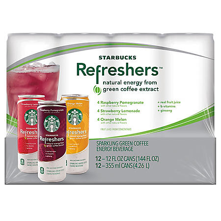 STARBUCKS REFRESHERS 12PK 12OZ CAN