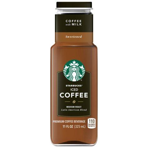 Starbucks Iced Coffee + Milk (11 oz. bottles, 12 pk.)