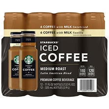 Starbucks Iced Coffee Variety Pack (11 oz. ea., 12 pk.)