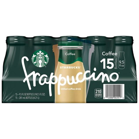 Starbucks Frappuccino Coffee Drink, Coffee (9.5 oz., 15 pk.)
