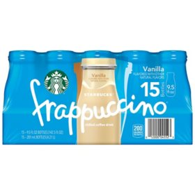 Starbucks Frappuccino Coffee Drink, Vanilla (9.5 oz., 15 pk.)