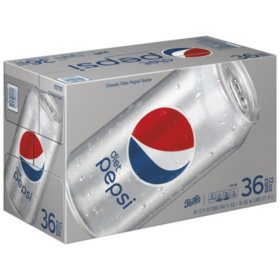 Diet Pepsi (12 oz. cans, 36 ct.)