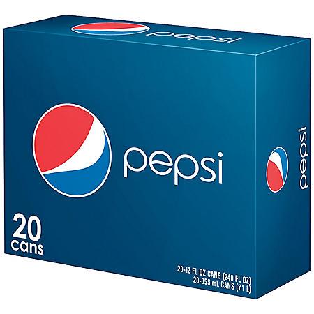 Pepsi - 12 oz. cans - 20 pk.