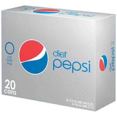 Diet Pepsi (12 oz. cans, 20 pk.)