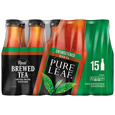 PL UNSWEET TEA 15/18.5 OZ BOTTLES
