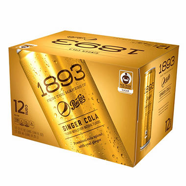 1893 Ginger Soda (12 oz. cans, 12 pk.)