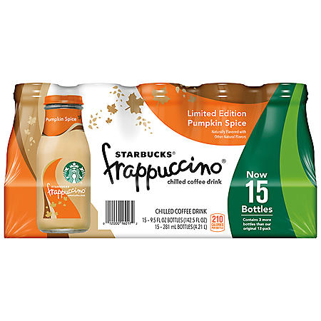 Starbucks Frappuccino Coffee Drink, Pumpkin Spice (9.5 oz ...