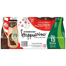 Starbucks Frappuccino Coffee Drink, Dark Chocolate Peppermint Mocha (9.5 oz. bottle, 15 pk.)