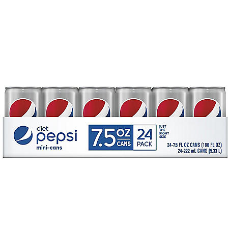 Diet Pepsi Mini (7.5oz / 24pk)