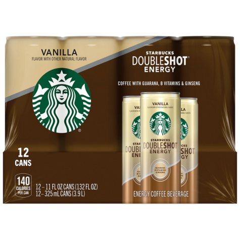 Starbucks Doubleshot Energy Coffee Beverage, Vanilla (11 oz., 12 pk.)