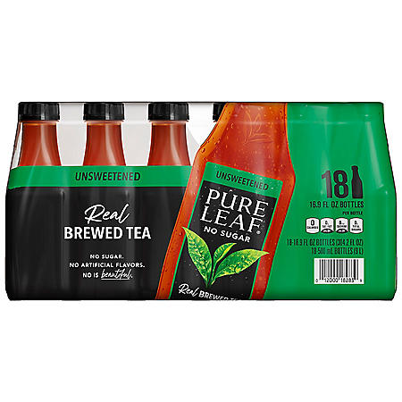 Pure Leaf Iced Tea, Unsweetened (16.9 fl. oz. bottles, 18 ct.)