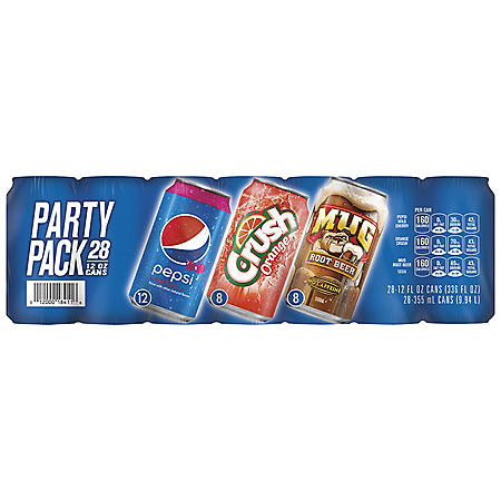 Pepsi Soda 3 Flavor Party Pack (12oz / 28pk)