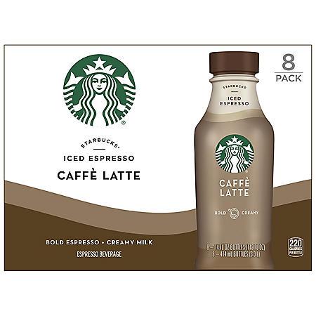 Starbucks Iced Espresso Caffe Latte (14 fl. oz., 8 ct.)