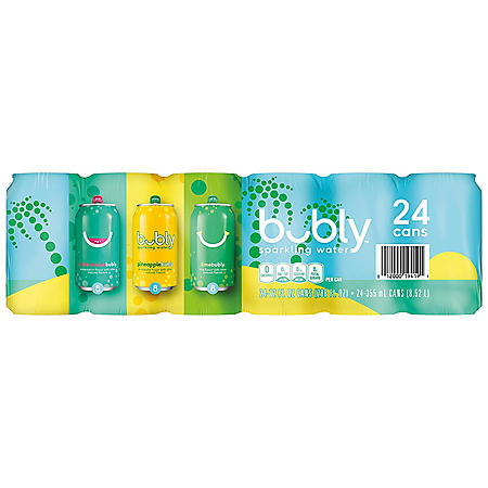 bubly Sparkling Water Variety Pack (12oz / 24pk)
