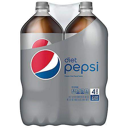 Diet Pepsi (2L bottles, 4 pk.)