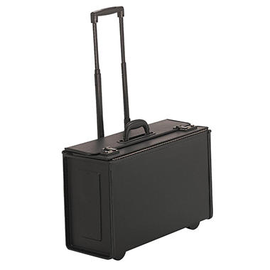 Stebco Tufide Wheeled Catalog Case, Vinyl, 22-1/4 x 13-1/2, Black