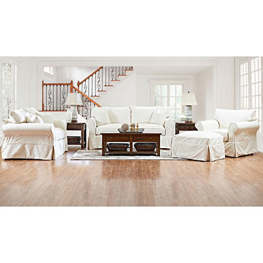 Klaussner Kari Slipcoverd Living Room Collection (Assorted Colors)