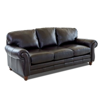 Klaussner Vaughn Leather Sofa, Brown
