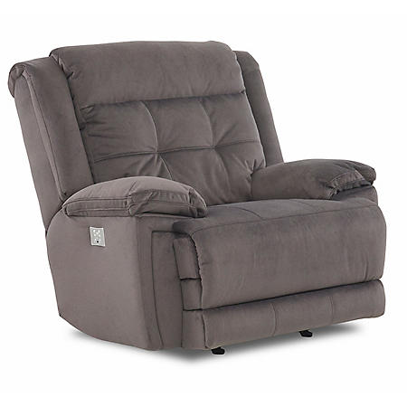 McCann Power Rocking Reclining Chair with Power Headrest, Lumber Support, Extended Footrest, Bluetooth App