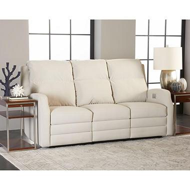 Kessler Power Reclining Sofa With Power Headrest, Lumber Support, Extended  Footrest, Bluetooth App