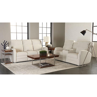Kessler Power Reclining Sofa Console And Power Reclining Loveseat With Power  Headrest, Lumber Support,