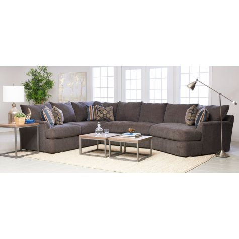 Klaussner Fairfield Sectional (Optional Facing)