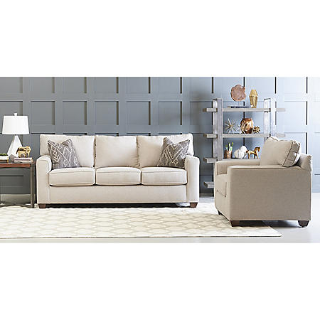 Klaussner Nathan Sofa and Accent Chair Living Room Collection