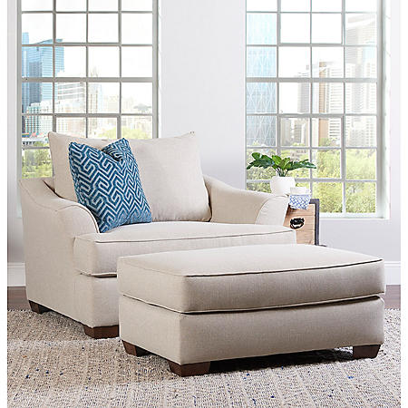 Klaussner Tabby Oversized Chair and Ottoman Collection