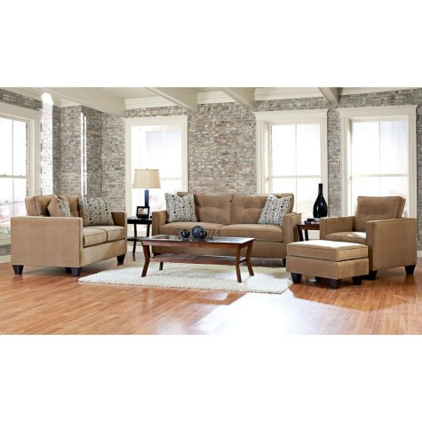 Klaussner Bryce Sofa, Loveseat, Chair and Ottoman Collection