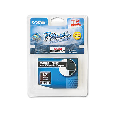 Brother P-Touch - TZe335 Label Tape, 1/2