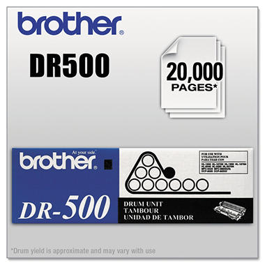 Brother DR-500 Drum Unit, black (20,000 Yield)