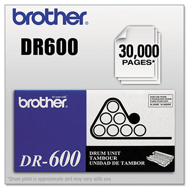 Brother DR-600 Drum Unit, Black (30,000 Yield)