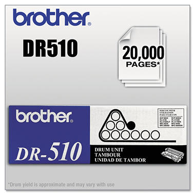 Brother DR-510 Drum Unit, Black (20,000 Yield)