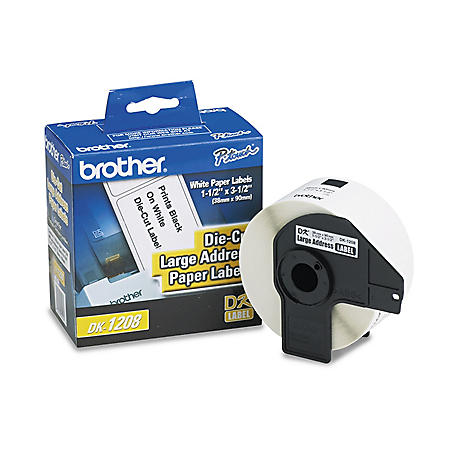 Brother P-Touch - DK1208 Labels, Large Address, White - 400 Labels