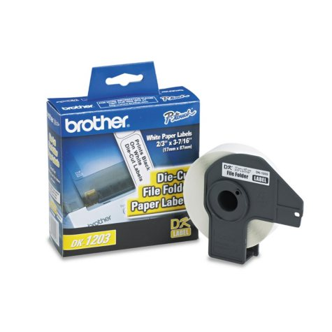 Brother P-Touch - DK1203 Labels, File Folder, White - 300 Labels