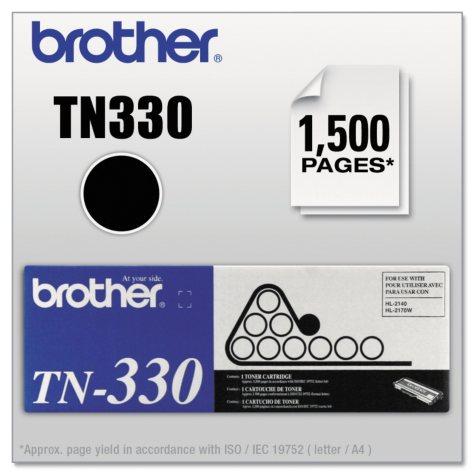 Brother TN330 Toner Cartridge, Black (1,500 Page Yield)